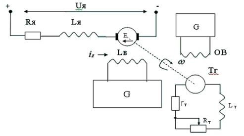 Расчётная схема двигателя