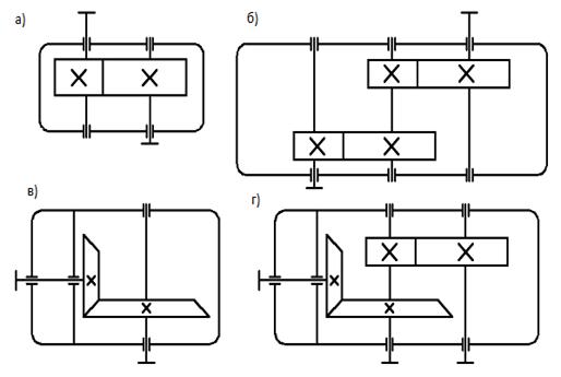 Схема редукторов: а